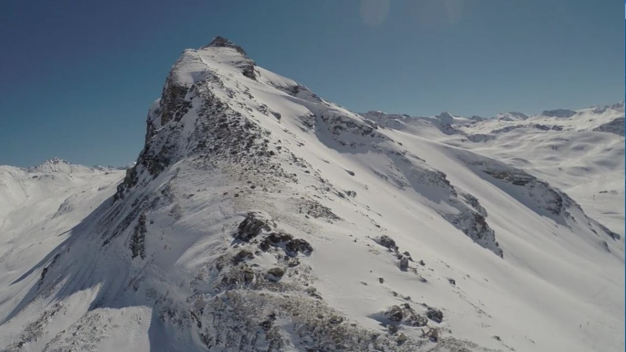 Val DIsere / Tignes aerial footage